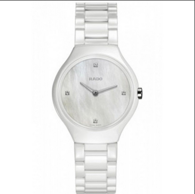 379e791b87a White Ceramic Rado True Watch