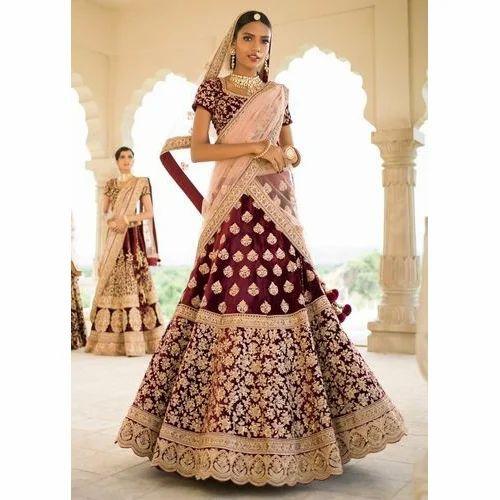 d47593b740586 Bridal Semi-Stitched Fancy Lehenga Choli