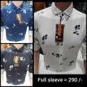 Mens Collar Neck Printed Cotton Shirt