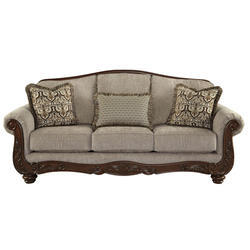 6 Seater Wood Leather Sofa Series
