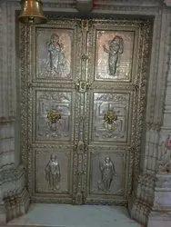 German silver Polished Metal Door