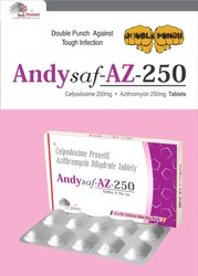 Cefpodoxime 200mg   Azithromycin 250mg
