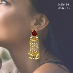 Traditional Bridal Pearl Earring