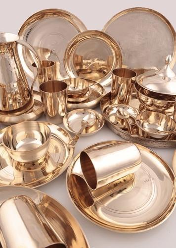 Charanjit Gold Bronze 51Pieces Dinner Set