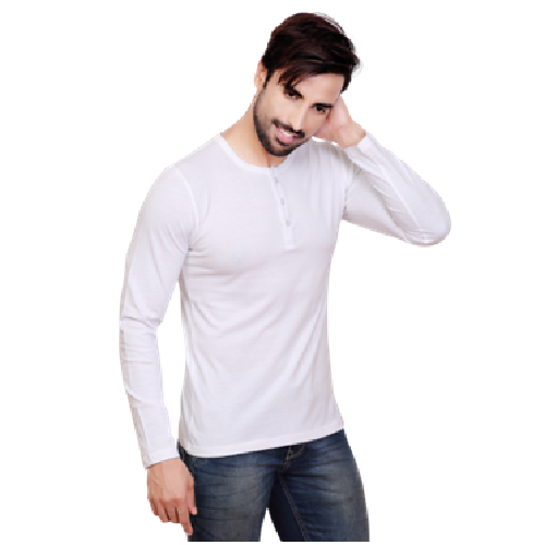 64cc4cdf Large And Extra Large Pyramid Full Sleeve Henley Neck T Shirt, Rs ...