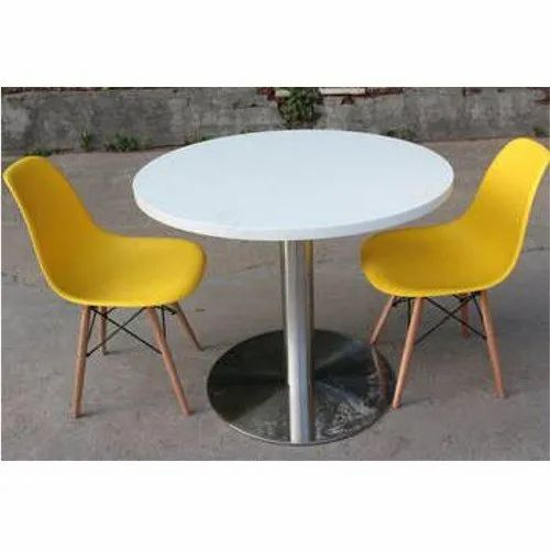 1 Table 2 Chairs Plastic Restaurant, Round Table And Chairs Set
