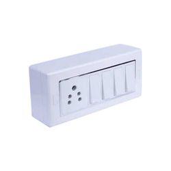 Orna Plastic White Electric Switch Socket