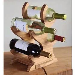 Wooden Bottle Stand