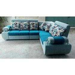 Blue L Shape Sofa Set Rs 22500 Set Hudson Mark Id 16911244462