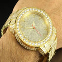 Round Fancy Real Natural Diamond Gold Watch, For Party Wear, Packaging Type: Box