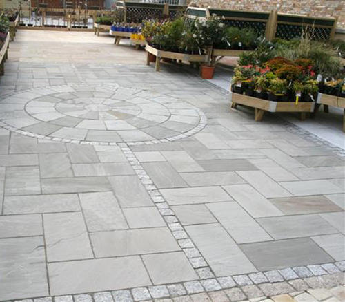 Grey Stone Paving Tiles, Thickness: >25 mm