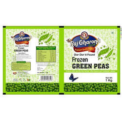 Frozen Green Peas Packaging Pouch