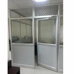 Powder Coated Aluminium Office Doors, Thickness: 1.5-2.5 Mm