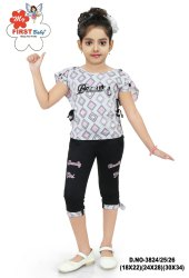 Cotton Kids Dress GIRLS TOP AND CAPRI, Age: 18month - 16 Years