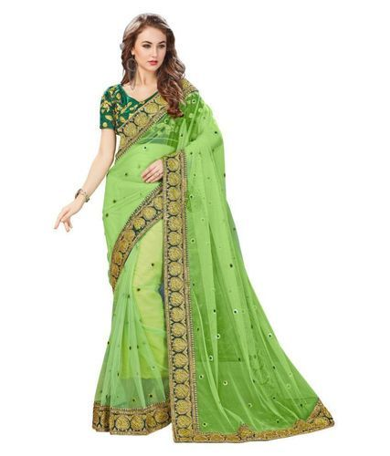 ac39011462048 Designer Parrot Net Saree at Rs 1099  piece