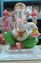 Jagdamba Marble Handicraft White Beautiful Marble Ganesha Statue