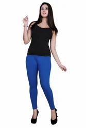 Gargi Plain Ladies Lycra Ankle Length Leggings, Size: Free Size