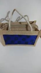 Assorted Printed Jute Bags, Size: 8*4*3