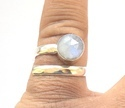 Semi Precious Rainbow Moonstone Ring