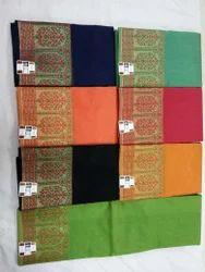 Banars Supernet Silk Banaras Handloom Sarees, Length: 6.3 m
