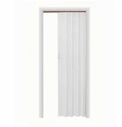 Express One Vinyl White Accordion Door