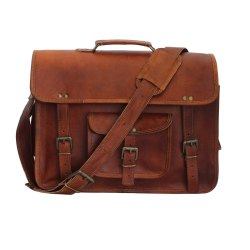 1d8a2110b2ed Brown Solid Leather Laptop Messenger Bag, IMB338, Rs 960 /piece | ID ...
