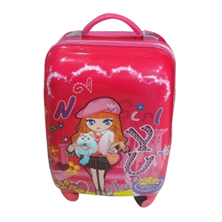 Pink Plastic Kids Travel Bag