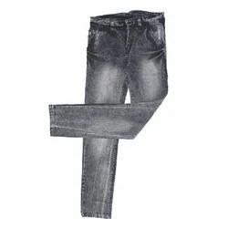Grey Stretchable Denim Fabric Jeans, Waist Size: 28-36
