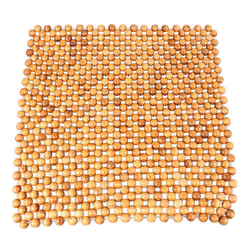 Brown Lining Acupressure Wooden Car Seat Beads