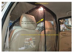 Plastic Car Partition, Coronavirus Protection, Size: Customizable