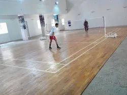 Badminton Court Flooring Construction