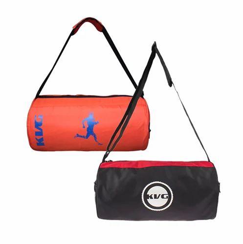 f7cd800c42a7de KVG Fashion 1 Orange And 1 Black Red Color Stylish Gym Bag GBDR59 ...