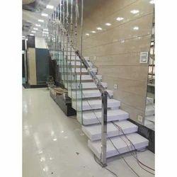 Straight Run Modern Stairs
