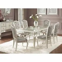 Silver Leaf 6 Seater Dining Table