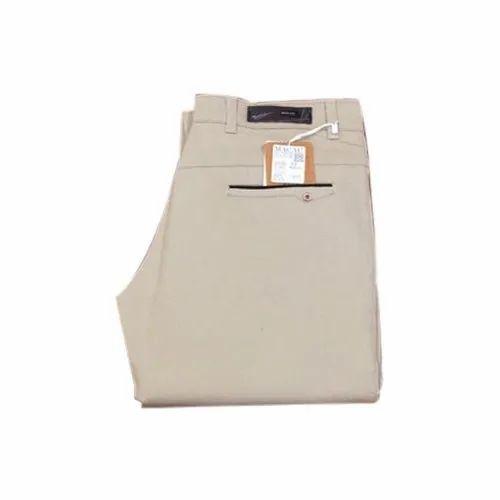 Regular Fit Mens Casual Wear Cotton Trouser, Size: 36