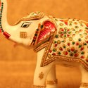 Hand Painted Metal Elephant For Diwali Gifting And Home Decor