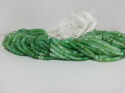 Natural Chrysoprase Faceted Rondelle Beads