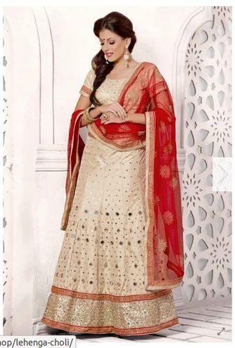 9bab83d3c Beige And Orange Bridal Wear Lehenga Choli at Rs 8699  piece ...