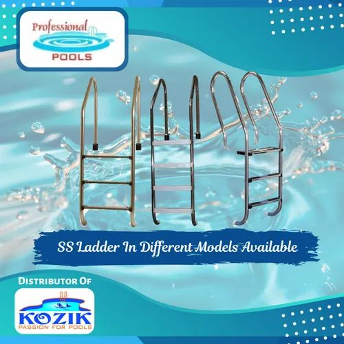 Professional Pools Stainless Steel Swimming Pool Ladder Rs 7500 Set Id 20158401733