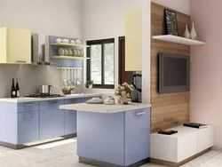 Parallel Modular Kitchen, Work Provided: Wood Work & Furniture