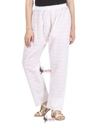 Saadgi Hand Block Print Pure Rayon Palazzo Pants for Women