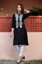 Sarani Rayon Cotton Kurtis Knee Lenght