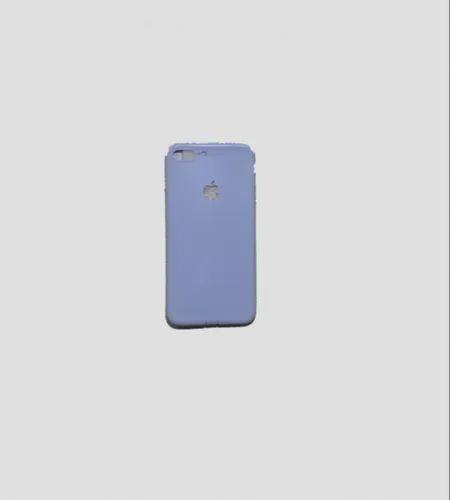 buy online b511a db27e Iphone 7 Plus & 8 Plus Light Blue Colour Plastic Back Cover