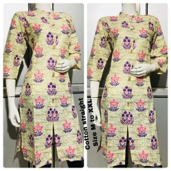 3/4th Sleeve Ladies Stylish Cotton Printed Kurti