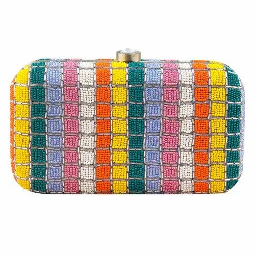 Wedding Embroidered Beaded Clutch Bag