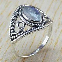Rainbow Moonstone Gemstone 925 Sterling Silver Jewelry Designer Ring