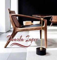 Dwarka Impex Brown Wooden Lawn Chair