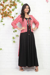 FULL LENGTH DOUBLE LAYERED COTTON KURTI