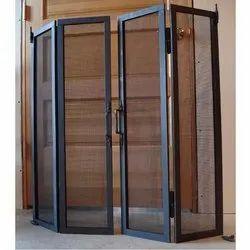 Black Aluminium Mosquito Mesh Door