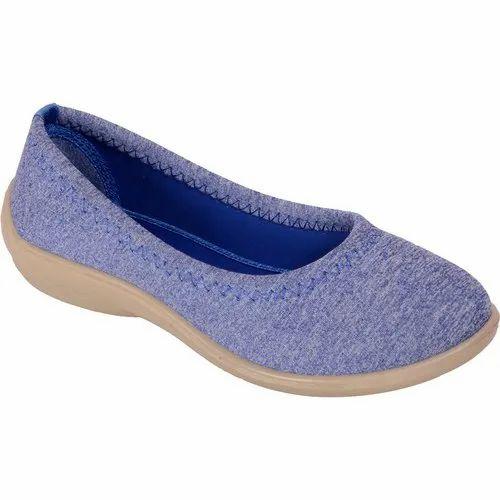 Bata Women Blue Soft Slip On Belly Shoes For Women